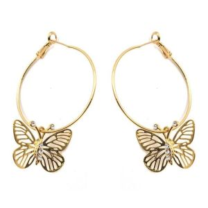 Créoles filigranes papillon