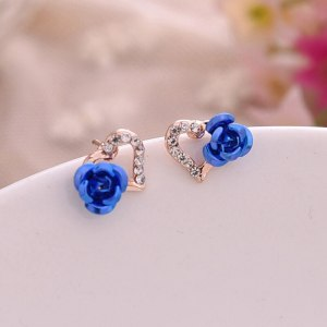 boucles roses bleus coeur
