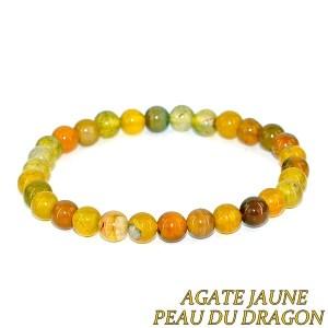 Bracelet agate jaune