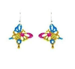 Boucles d'oreilles papillon coloré