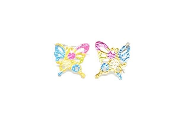 Boucles d'oreilles papillon coloré bis