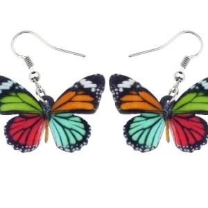 Boucles d'oreilles papillon couleurs