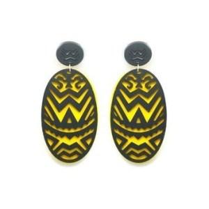 Boucles d'oreilles ethniques jaunes