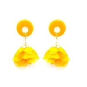 Boucles d'oreilles tissu orange