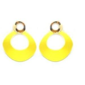 Créoles métal jaune