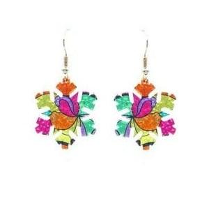 Boucles d'oreilles étoile multicolore