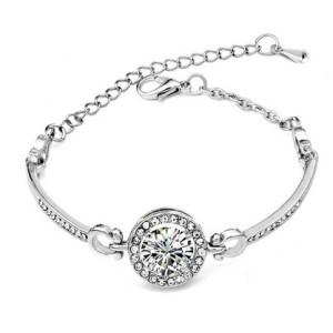 Bracelet argenté strass