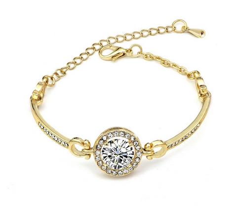 Bracelet doré strass