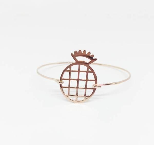 Bracelet rose gold ananas