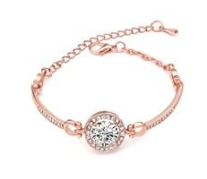 Bracelet rose gold strass