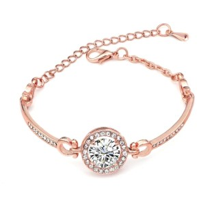Bracelet rose gold strass