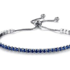 Bracelet strass bleus
