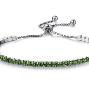 Bracelet strass verts
