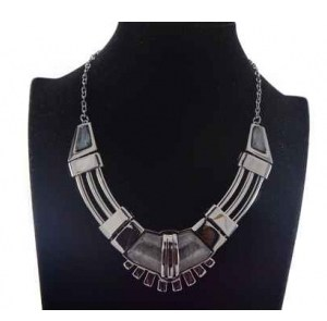 Collier métal anthracite