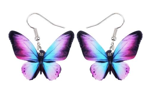 Boucles d'oreilles grand papillon