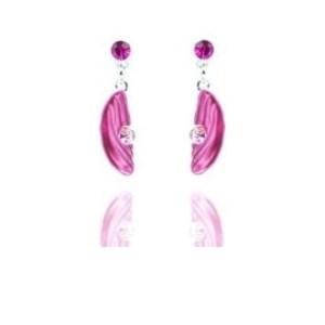 Boucles d'oreilles pierres roses