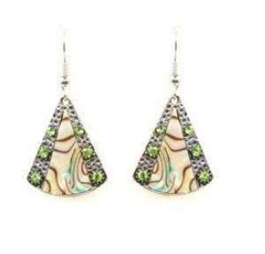 Boucles d'oreilles pierres vertes
