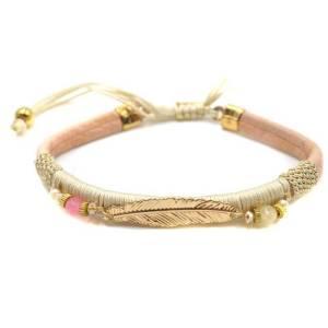 Bracelet plume beige