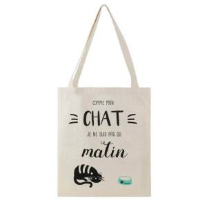 Sac Tote Bag Chat message matin