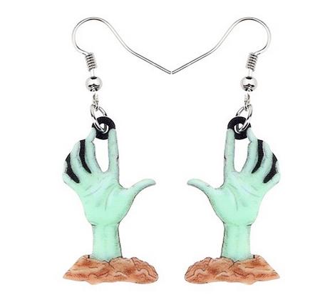 Boucles d'oreilles halloween mains