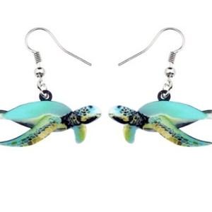 Boucles d'oreilles tortue de mer