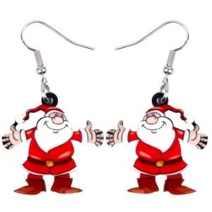 Boucles d'oreilles Père Noel joyeux