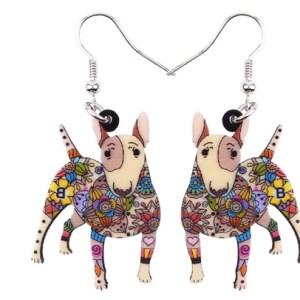Boucles d'oreilles bull terrier