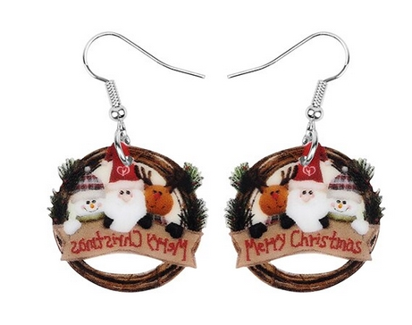 Boucles d'oreilles déco Noel