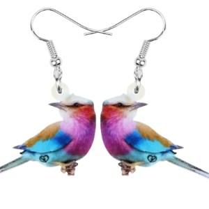Boucles d'oreilles oiseau caille