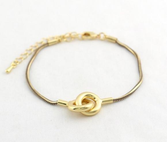 Bracelet chaine serpent marron