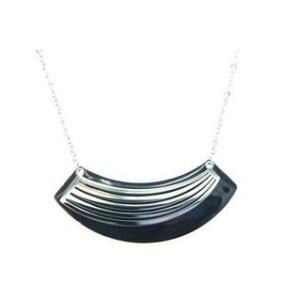 Collier acier arceaux argenté noir