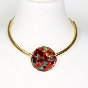 Collier écaille de tortue rouge