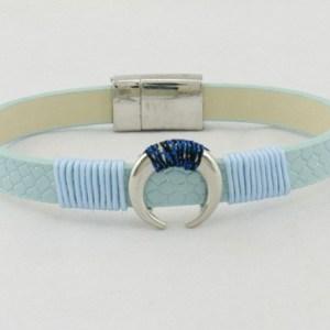 Bracelet croissant de lune bleu