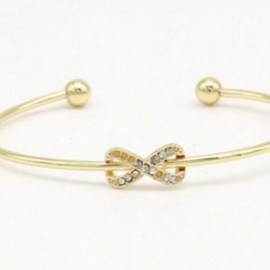 Bracelet ouvert infini doré