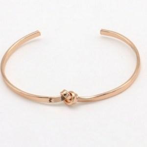 Bracelet ouvert noeud rose gold