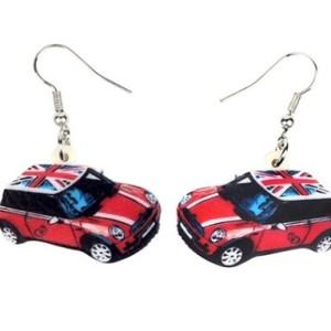 Boucles d'oreilles voiture rouge