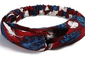 headband bordeaux bleu