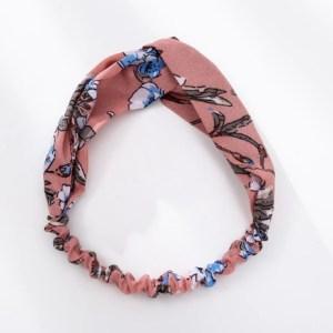 headband rose à fleurs
