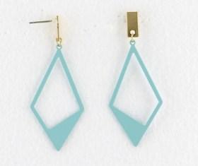 Boucles d'oreilles géométriques bleu