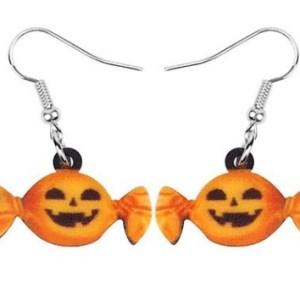 Boucles d'oreilles bonbon citrouille
