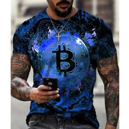 Tee Shirt BITCOIN Bleu