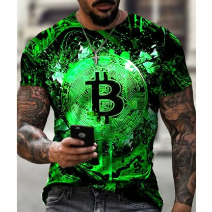 Tee Shirt BITCOIN Vert