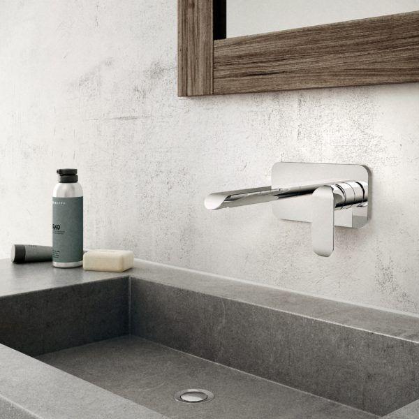 robinet mural de salle de bain kara