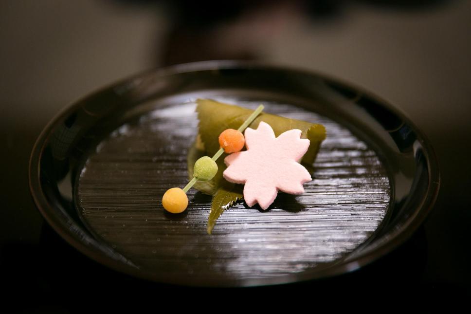 Sakuramochi at Kitcho, Kyoto. You Have to Eat These Dishes in Kyoto, by Boutique Japan.
