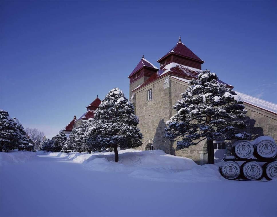 Yoichi whisky distillery winter