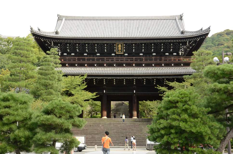 Grand gateway Chion-in temple in Kyoto
