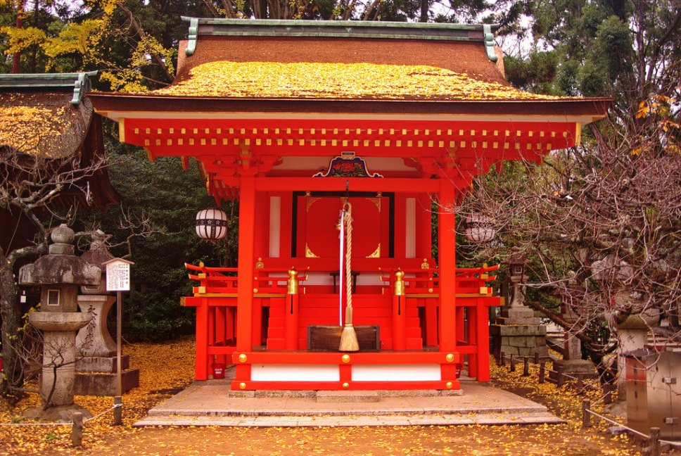 Kitano Tenmangu Shrine in Kyoto, Japan