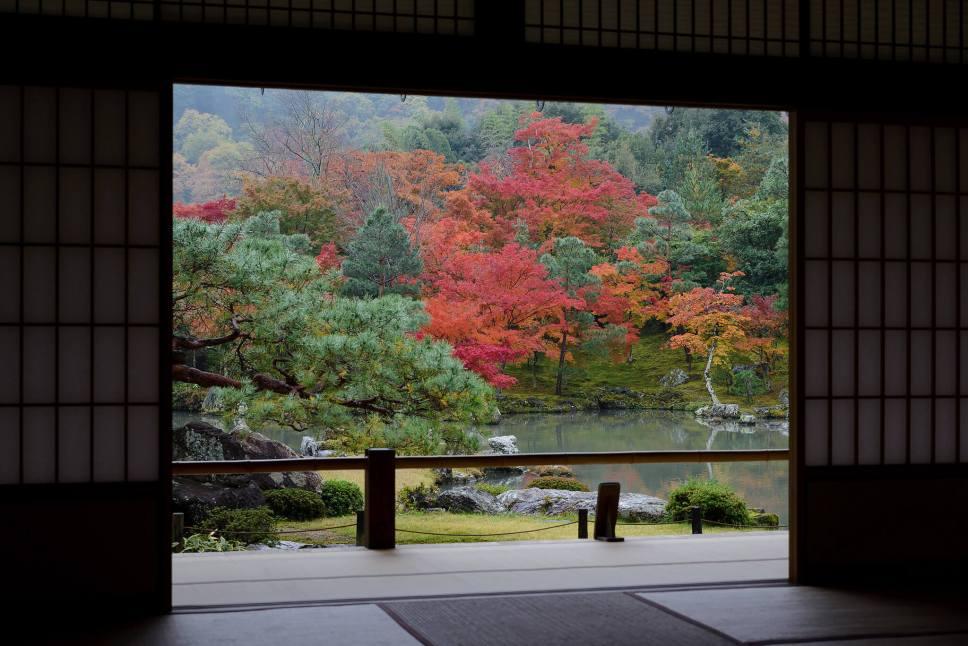 Inside Tenryu-ji in Arashiyama, Kyoto, Japan