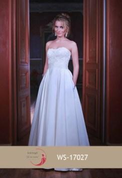 Robe de mariée ligne A bustier (disponible en ivoire et blanc)