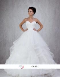 Robe de mariée princesse froufrous (disponible en ivoire et blanc)